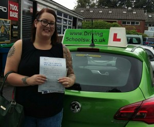 Nadine Passes her Driving Test