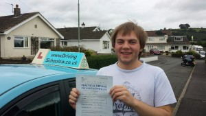 Driving Lessons Torquay, Paignton & Newton Abbot Sam Passes his Driving Test First Time!! Sam-Endean-Max-300x169