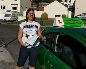 Driving Lessons Torquay, Paignton & Newton Abbot We got there in the end! Sarah-1-300x239